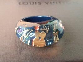 Original Louis Vuitton Ring Gr. L 57 blau gold & Box & Staubbeutel