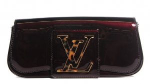 Original Louis Vuitton SoBe Clutch / Pochette, Leder mit Signatur-Verschluss