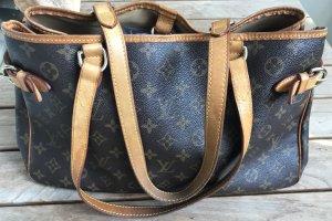 Louis Vuitton Carry Bag dark brown-beige mixture fibre