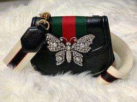 Original Luxus Gucci Butterfly Leder Swarovski Handtasche