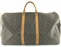original LV Louis Vuitton Tasche Weekender Keepall 55 Monogram braun