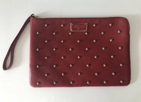 Marc Jacobs Clutch dark red-carmine leather