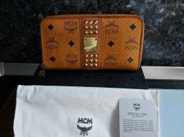 MCM Wallet gold-colored-cognac-coloured