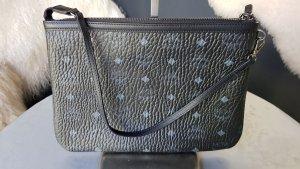Original MCM Tasche NEU & Kaufbeleg grosse Clutch schwarz grau
