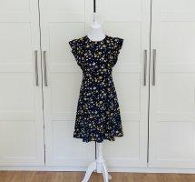 Original Michael Kors Designerkleid Kleid Blumenkleid Blumen Minikleid Sommerkleid Volants Volant Rüschen Freizeitkleid