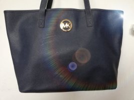 Michael Kors Borsa shopper blu scuro-crema Pelle