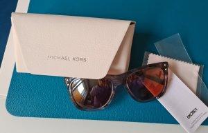 Michael Kors Okulary retro srebrny-szary Tkanina z mieszanych włókien