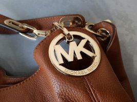 Michael Kors Crossbody bag gold-colored-cognac-coloured leather