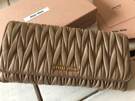 Miu Miu Wallet nude-beige leather