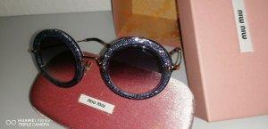 Original MIU MIU Sonnenbrille Lila Gold UVP: 349,-