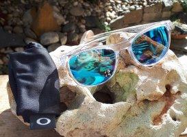 Original Oakley Trillbe X Sonnenbrille, blau verspiegelt, polarisiert, NP 195 €