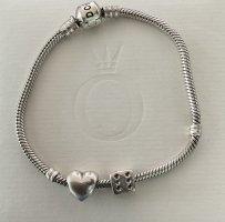 original Pandora Armband 925 Silber 20cm mit Bead Herz + Würfel sehr guter Zustand