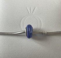 Pandora Pendant neon blue glas