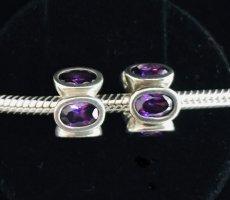 Pandora Charms srebrny-ciemny fiolet