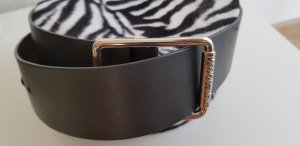 Patrizia Pepe Leather Belt grey leather