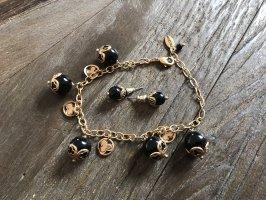 Pilgrim Bracelet en perles noir-doré