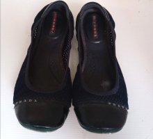 Original Prada Ballerinas schwarz blau Gr 40 Lack