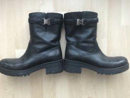 Prada Botas de tobillo negro Cuero