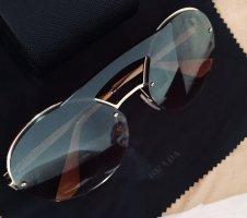Prada Gafas de sol redondas marrón claro-naranja claro