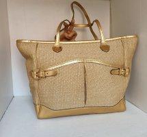Original Ralph Lauren Tasche Shopper Tasche Gold Umhängetasche