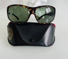 Ray Ban Oval Sunglasses dark brown-dark green