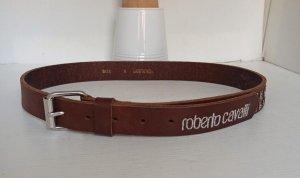 Roberto Cavalli Cintura di pelle marrone Pelle