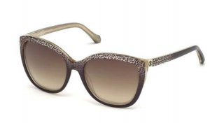 Roberto Cavalli Butterfly Glasses brown mixture fibre