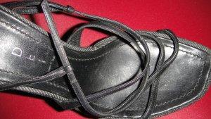 Casadei Sandalo alto con plateau nero-grigio scuro Pelle