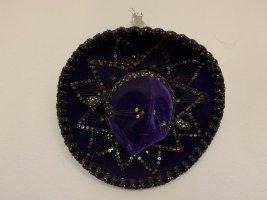 Unikat Chapeau de cow-boy violet foncé tissu mixte