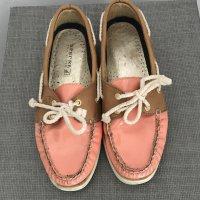 Sperry top-sider Zapatos de marinero marrón claro-salmón