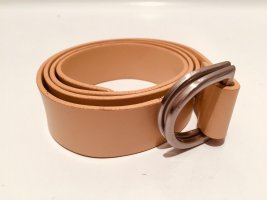 Strenesse Gabriele Strehle Leather Belt silver-colored-camel