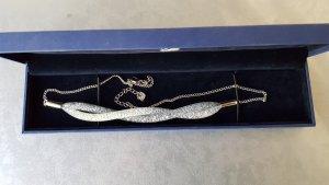 Original Swarovski Kette Kette silber weiss neuwertig & Box