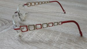 Bril goud-rood Metaal
