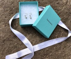 Tiffany&Co Pendientes de plata color plata