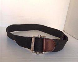 Tod's Cinturón de tela negro-marrón