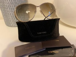 Tom Ford Vierkante bril goud-zwart bruin