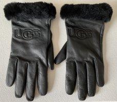 UGG Australia Padded Gloves black leather