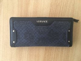 Versace Portefeuille bleu-vert foncé cuir