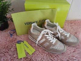 Original Versace Jeans Sneaker Linea Fondo Stella Glitter beige Größe 40 wie NEU