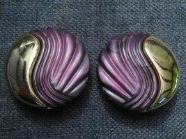 Klips złoto-jasny fiolet