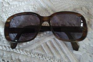 Unbekannte Marke Kwadratowe okulary przeciwsłoneczne brąz-jasnobrązowy