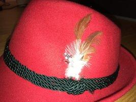 Vilten hoed donkerrood