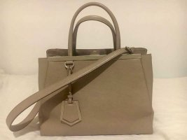 Originale Fendi 2Jours medium Handtasche in Taupe