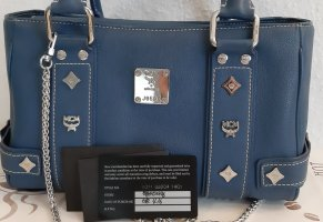 MCM Handbag blue-steel blue