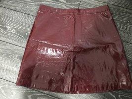 Orsay Faux Leather Skirt bordeaux-carmine