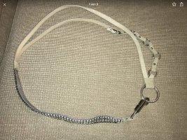 Orwell Cinturón de cadena crema-gris Cuero