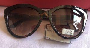 Oscar de la renta Okulary w stylu panto ciemnobrązowy-brązowy Poliester