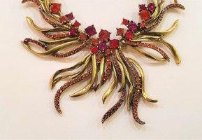 Oscar de la renta Collar estilo collier multicolor metal