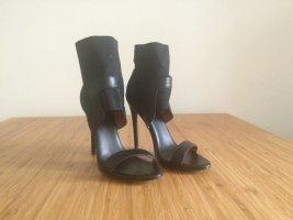 &other stories Sandalen Gr. 37 neu Sandaletten Neopren Leder Cut-out High Heels