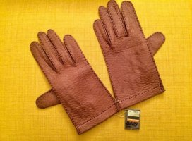 Leren handschoenen bruin